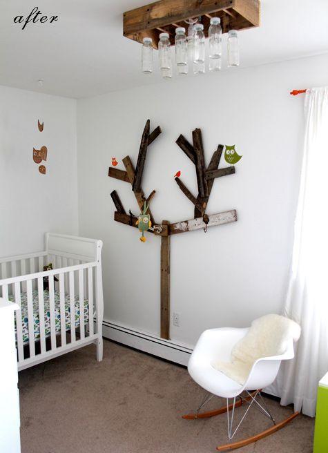 Wooden tree/owls