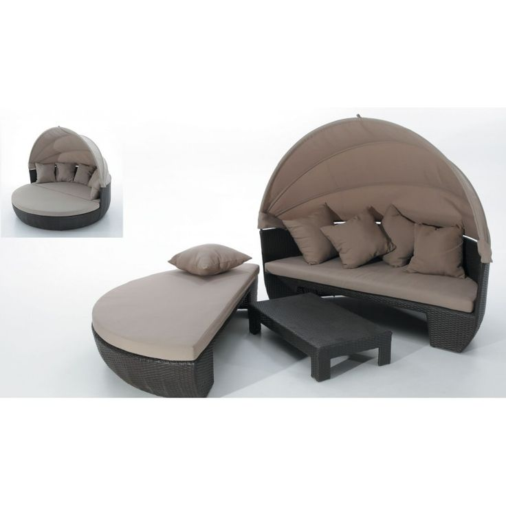 Lit sofa rond exterieur fabulous trouver un magasin with - Salon de jardin lit sofa rond modulable ...