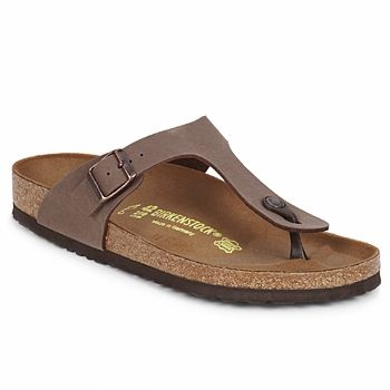 Summer will be 100% comfortable thanks to this authentic thong sandal from Birkenstock! Comfortable thanks to their anatomic shock-absorbing sole and adjustable strap, they go perfect with any style. - Colour : Mocca - Shoes Women £ 44.00