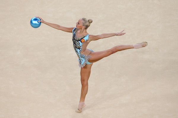 Ganna Rizatdinova of Ukraine competes during the Women's Individual All-Around Rhythmic Gymnastics Final on Day 15 of the Rio 2016 Olympic Games at the Rio Olympic Arena on August 20, 2016 in Rio de Janeiro, Brazil. - 285 of 682