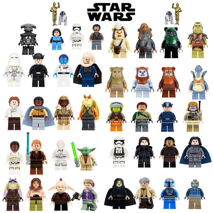 Unique Vente Star Wars Luke Leia Han Solo Anakin Darth Vader Yoda Jar Jar Binks Poupées BRICOLAGE Blocs de Construction Jouets Pour enfants