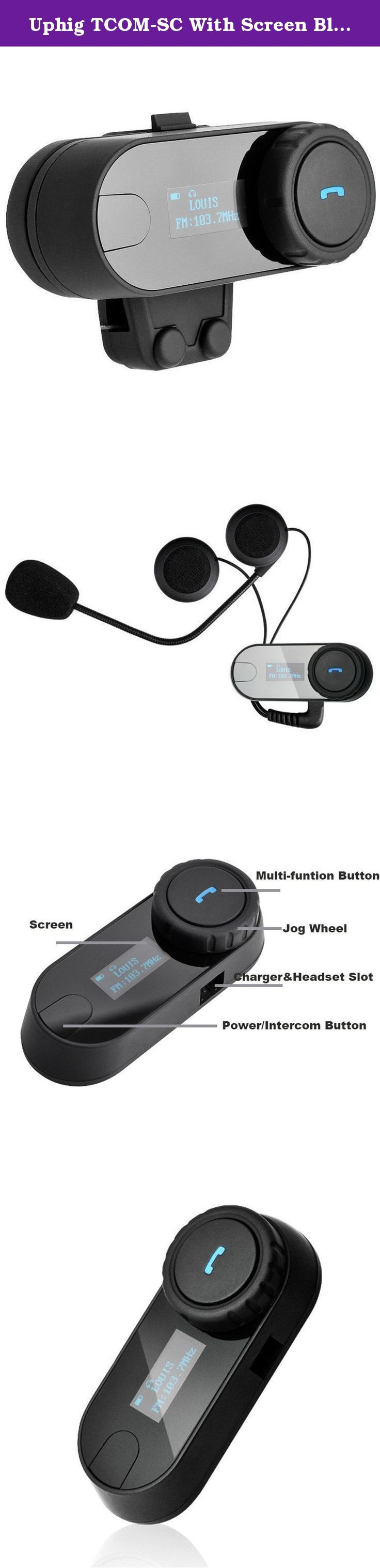 Uphig TCOM-SC With Screen Bluetooth Motorcycle Motorbike Helmet 800M Intercom Headset (US STOCK). Main features (1) Wireless headset for bluetooth enable cell phone at a range of up to 10 meters. Bike-to-bike intercom for rider& passenger or two separate bikes up to 1000 meters. Up to 10 hours talk time when connected to cell phone. Up to 6 hours talk time when using the intercom feature. Up to 300 hours standby (2) Call out, call answer, call reject, call hang up. (3) Receive a cell…