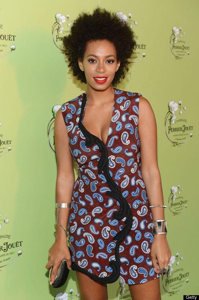 I really love this girl. Her clothes, hair, and makeup always inspire me.    Solange Knowles Tries The No-Pants Look At Beyonce's Film Premiere (PHOTOS)
