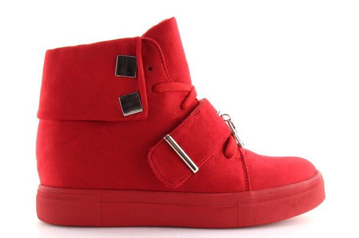 #Pozostałe #Sportowe #Damskie #ObuwieDamskie #Sneakersy #Damskie #Czerwone #Nc158 #Obuwie #Damskie