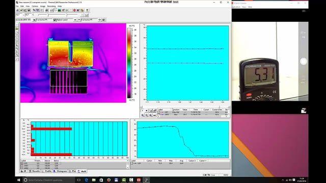 Testing Peltier cell performance