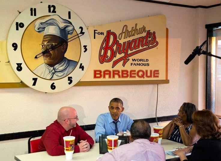 President Obama at Arthur Bryant's 7/29/2014