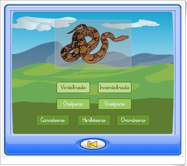 """""""Juego de clasificación de animales"""" (Ciencias Naturales de Primaria)"""
