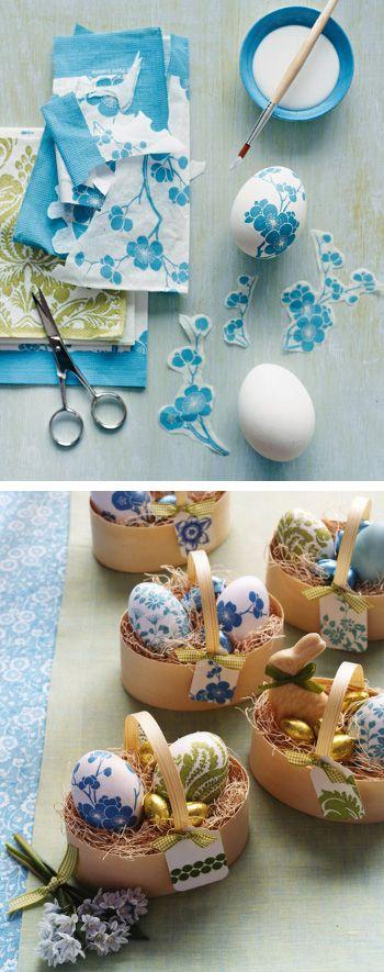 Ещё один вариант украсить яйца к Пасхе #diy #easter