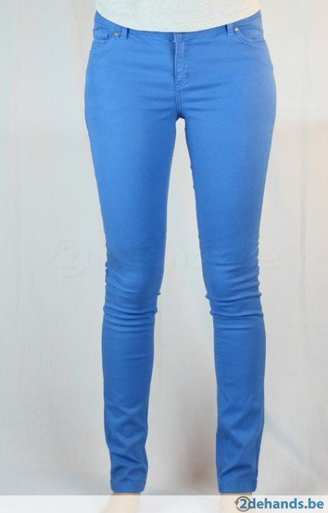 Blauwe broek van New Look tall - Maat 42