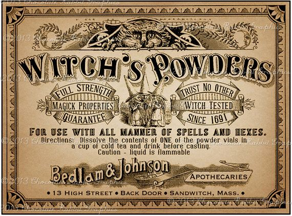 Apothecary Label Halloween Witch Potion Vintage Digital Download Collage Sheet Poison Tags Scrapbook INSTANT DOWNLOAD