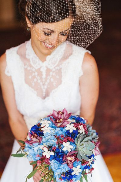 Succulent and Sapphire Blue #Stephanotis Wedding Bouquet I Gale Mansion I http://www.weddingwire.com/wedding-photos/i/rose-stephanotis-bouquets-hydrangea-blue/i/a2c39a113b0ca0bf-91480fd929c94432/67a286956986aded?tags=stephanotis&page=1&cat=flowers&type=search