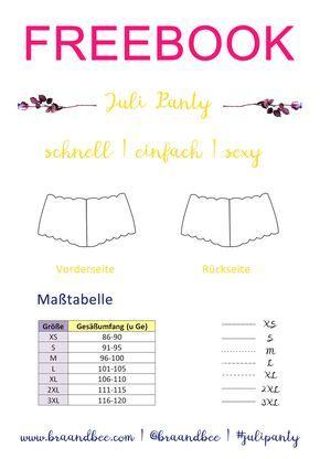 Juli Panty Schnittmuster & Anleitung | Nähen | Pinterest ...