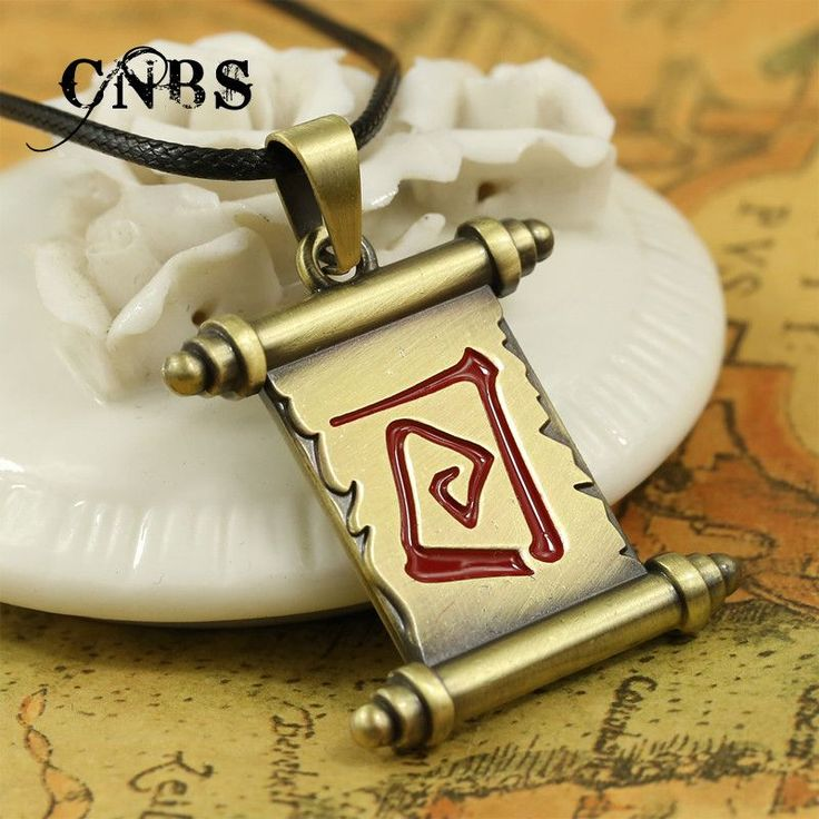 Hot Game Dota 2 Magic scroll Bronze Necklace can dropshipping Charm Pendant Cosplay Accessories Jewelry Gift YS10825