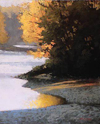 Riverbank | Marc Bohne | oil on panel.
