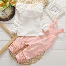 (HG1015) nouvelle-Coréen boutique bébé filles vêtements définit filles bébé de mode t chemises et pantalons longs ensembles de vêtements pour enfants