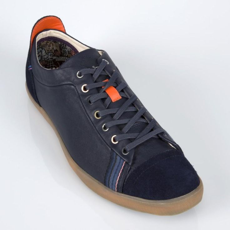 Paul Smith Shoes - Navy Leather Vestri Sneakers
