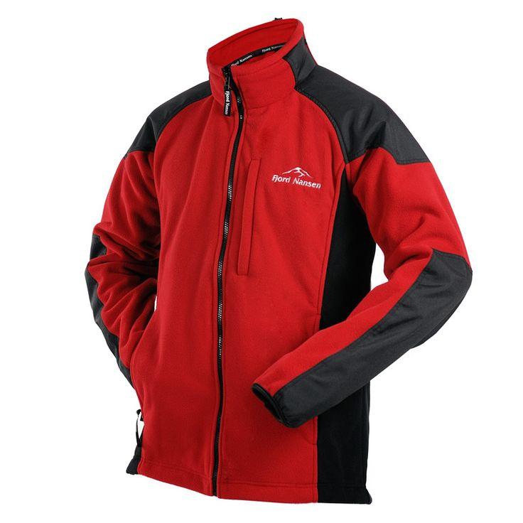 Kurtka polarowa ROALD red/black | odzież \ męska \ kurtki i polary | Fjord Nansen