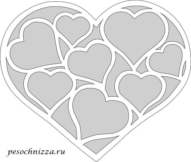 Наборы, ажурные сердечки открытки