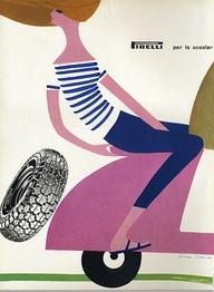 Pirelli tires ad by Lora Lamm