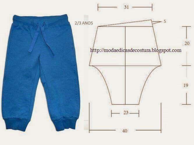 Pola celana anak 2- 3 tahun