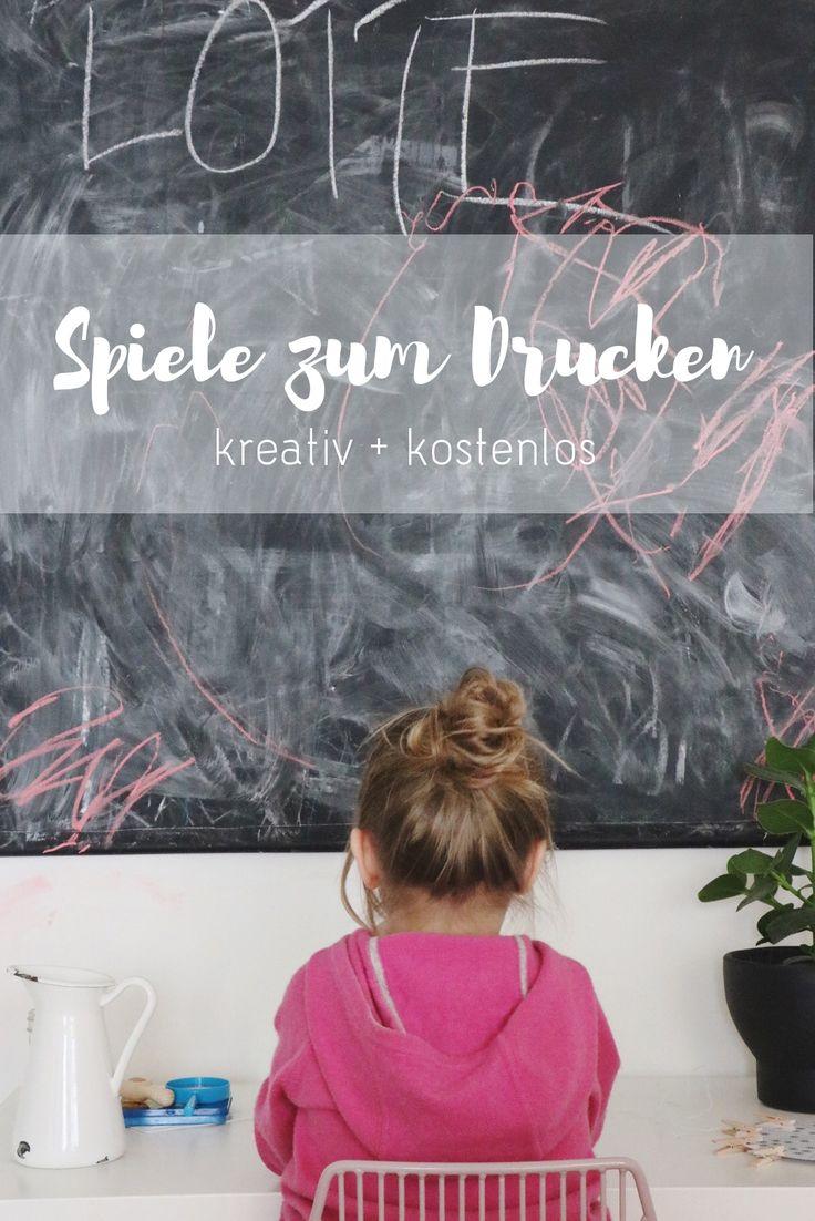 Freebie   Druckvorlagen + Spiele für Kinder via alovelyjourney.de