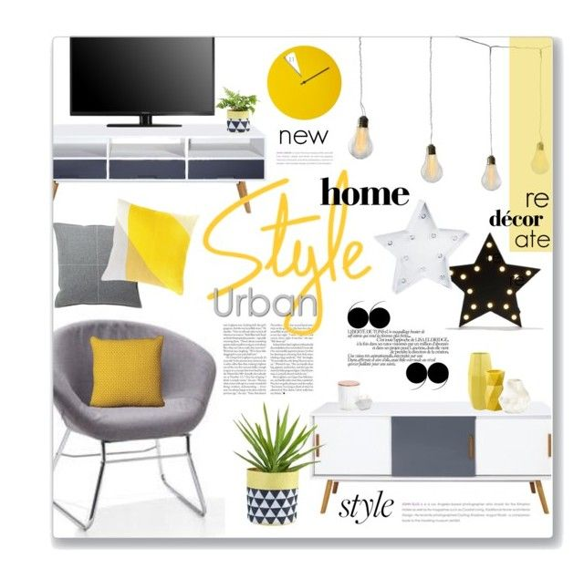 """""""Stylish Budget"""" by clovers-mind ❤ love the yellow and greys. Kmart styling"""