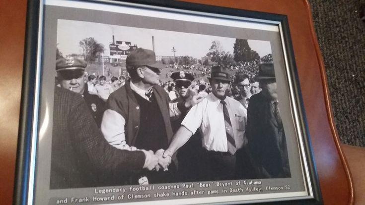 Alabama Clemson Bear Bryant Frank Howard Football Death Valley Reproduction Pic
