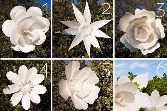 Flores de papel gigantes patrones por AvantiMorochaDIYs en Etsy