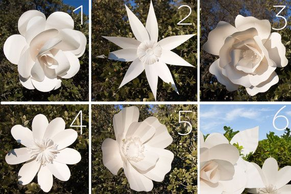 Giant Paper Flowers Patterns by AvantiMorochaDIYs on Etsy