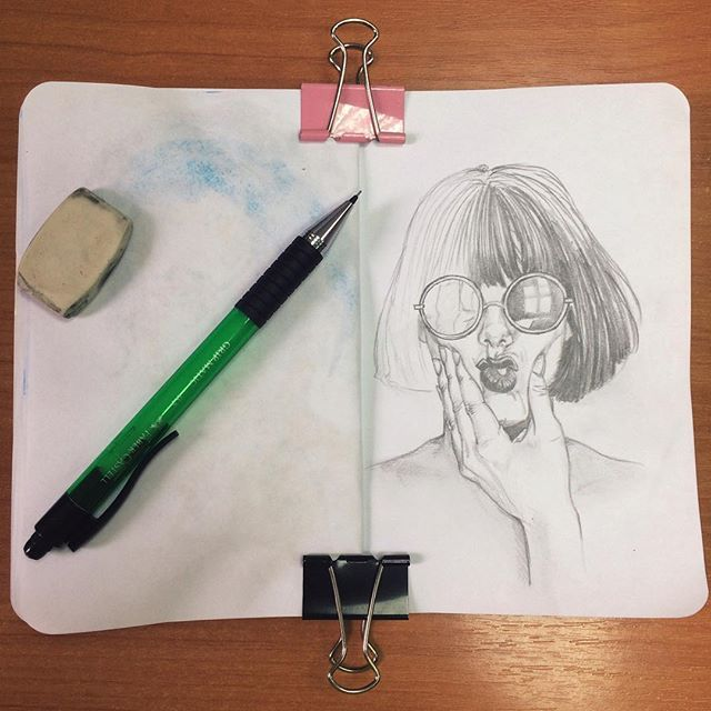 #art #instaart #draw #drawing #sketch #sketching #sketchbook #pancil #portrait…