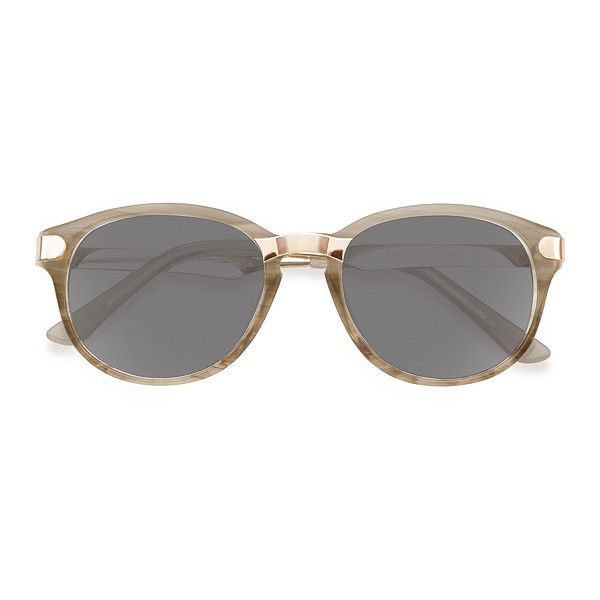 Women's Wynwood - Gray/Golden wayfarer - 13673 Rx Sunglasses ($45) ❤ liked on Polyvore featuring accessories, eyewear, sunglasses, gray sunglasses, round glasses, keyhole sunglasses, round wayfarer sunglasses and golden sunglasses