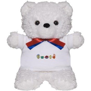 Teapots Teddy Bear from cafepress store: AG Painted Brush T-Shirts. #teddybear #toy #teapots