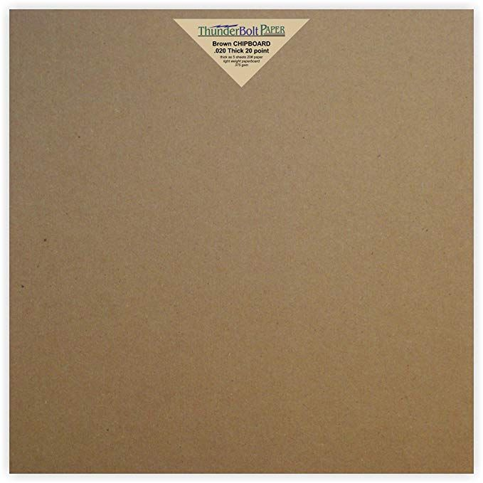 point 150 Sheets Chipboard 20pt 8.5 X 11 Inches Light Weight Letter Size .020 Caliper Thick Cardboard Craft|Ship Brown Kraft Paper Board