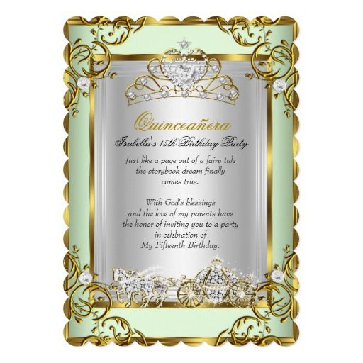 280 best quinceanera birthday party invitations images on, Birthday invitations
