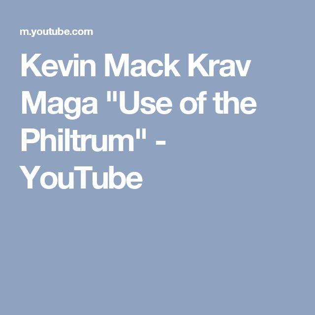 "Kevin Mack Krav Maga ""Use of the Philtrum"" - YouTube"