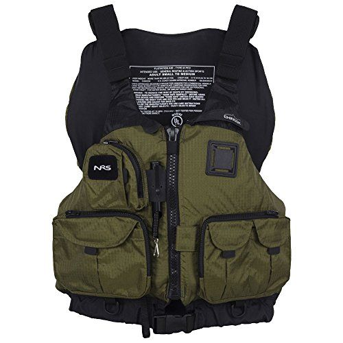 Nrs chinook mesh back fishing pfd bark l xl nrs http for Bass fishing life jacket