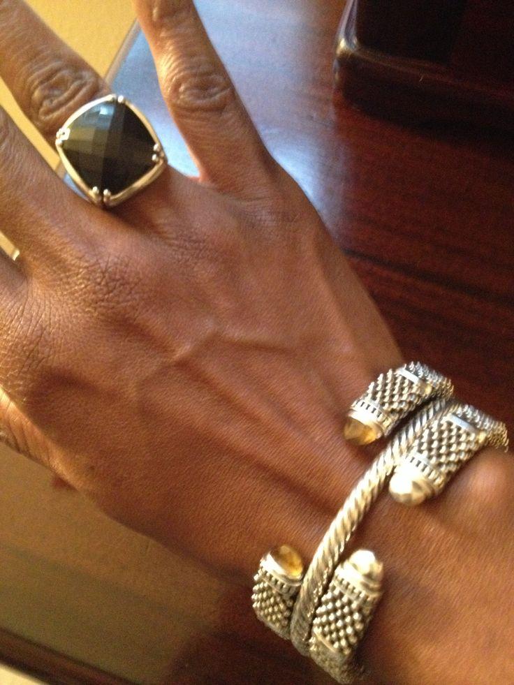 My Tacori Ring LAGOS and David Yurman bracelets
