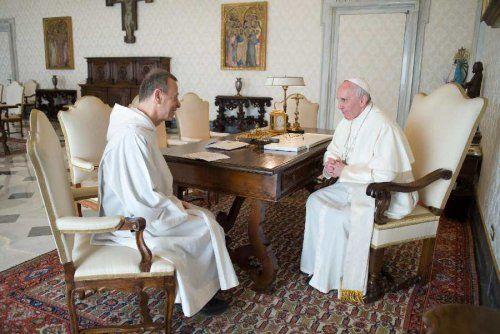 Le Pape François a reçu frère Alois - Taizé - 30 mars 17