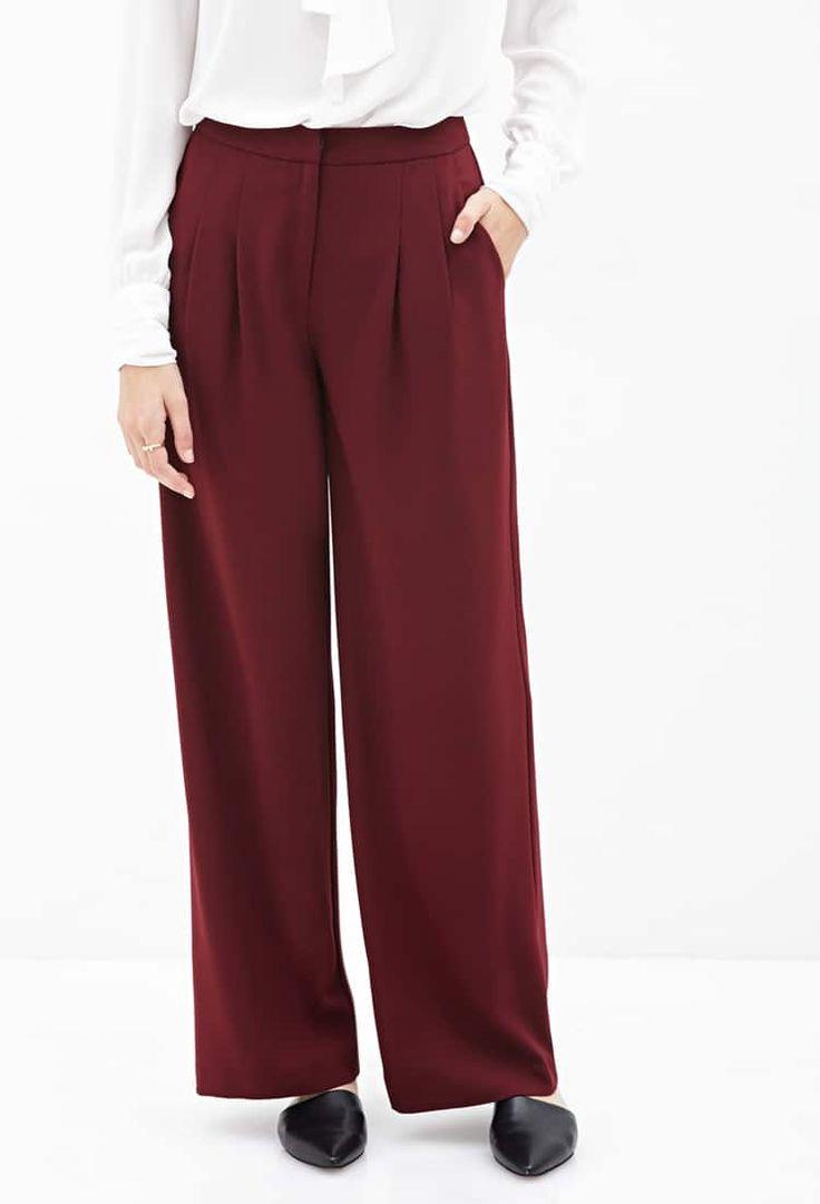 J2017  Pleated Wide-Leg Pants