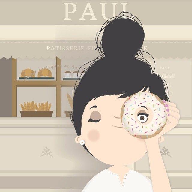 { bonjour! ☕️☺️ #paulpatisserie #paul #donuts #coffee #breakfast #moday
