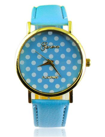 """""""A pois"""" will give your image a nice touch. Polka-dotted ladies' watch, available in different colours: yellow, green, light blue and red."""