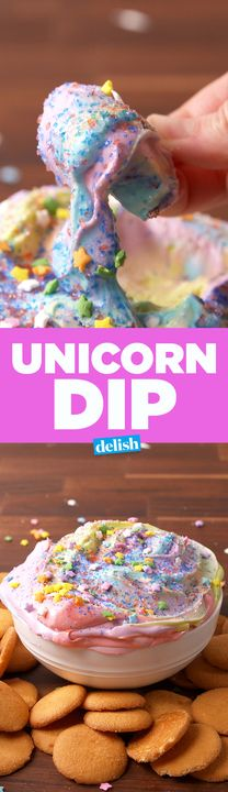 This Unicorn Dip is so good you'll question if it's even real. Get the recipe from Delish.com.
