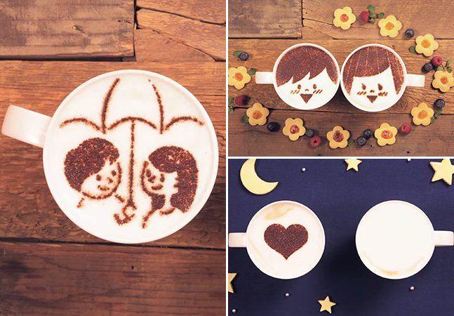 A gente bem sabe que o amor muitas vezes está em uma xícara de café bem quentinha. Para provar isso, a marca de café japonesa Maxim Stick criou um vídeo incrível que reúne stop motion e latte artpara contar uma verdadeira história de amor. Para isso, foram usadas nada menos que mil xícaras de café. Latte art é a arte de criar desenhos e formas usando a espuma do leite ou chocolate no café. No caso, a romântica história mostrada nas xícaras foi criada usando chocolate em pó e moldes de…