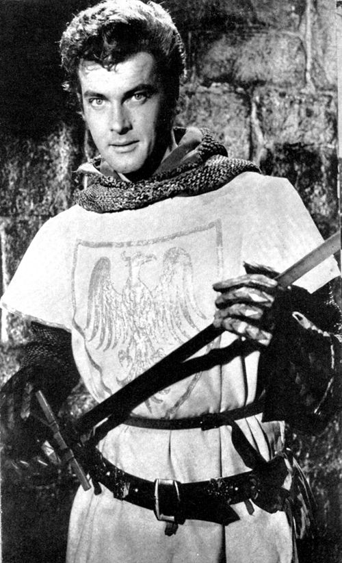 Roger Moore as 'Ivanhoe.'