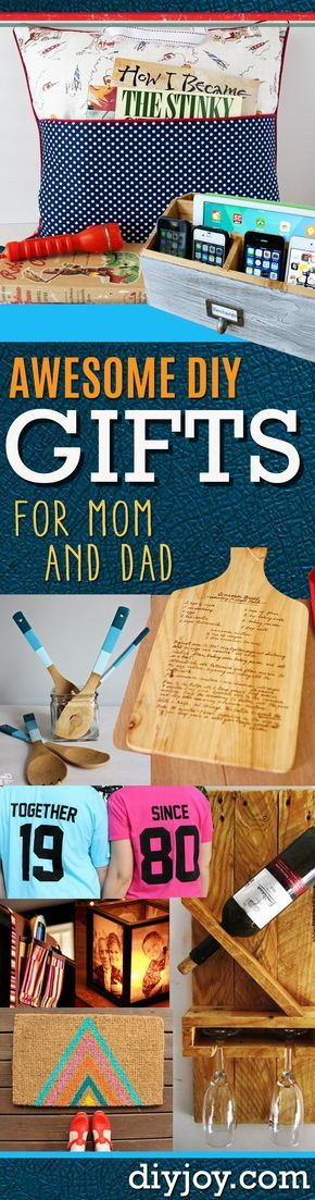 DIY Gifts for Mom and Dad - Homemade Christmas Gift Ideas for Your Parents. Cool Gift Ideas to Make for Your Mother and Father http://diyjoy.com/diy-gift-ideas-for-parents-mom-dad