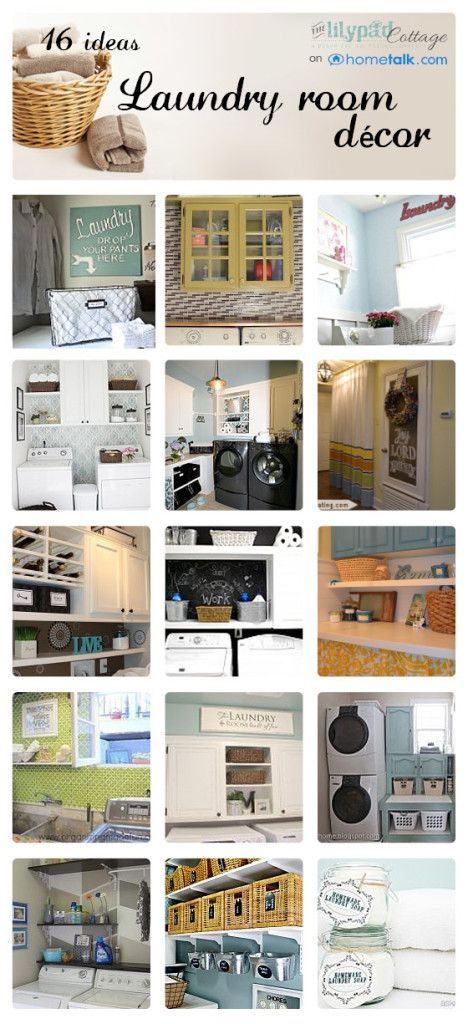 Make your laundry room look like a million bucks! So many cute ideas for transforming that space.