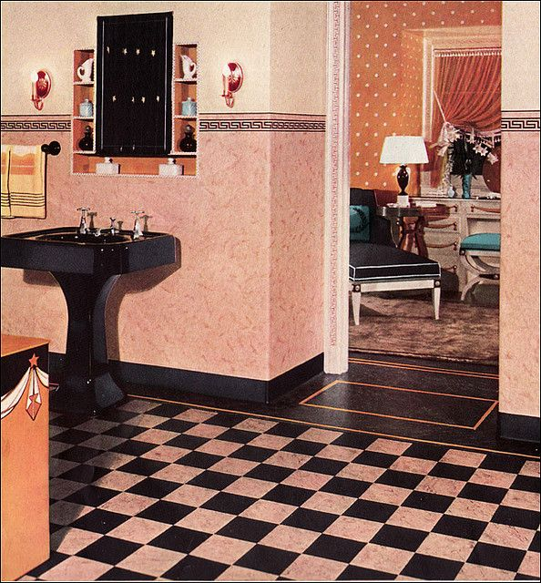 1930s bathroom design this 1933 bathroom with its pink and for 1930 floor tiles