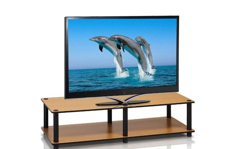 Light cherry simple TV stand media entertainment storage cabinet furniture Lsize