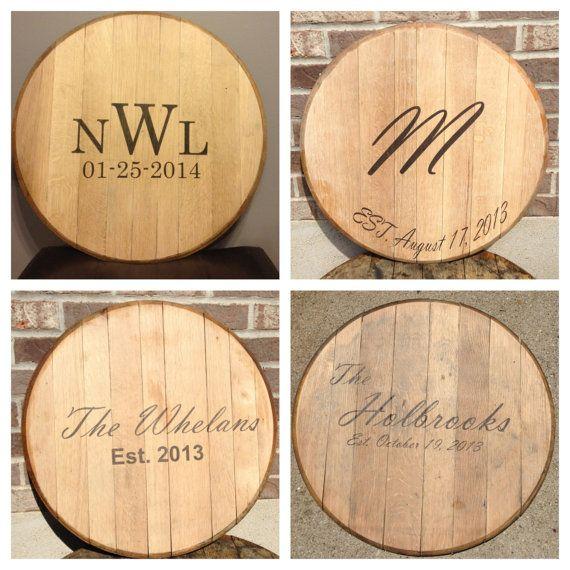 Bourbon Whiskey Barrel Head Wedding Guest Book by KyBarrel on Etsy, $60.00