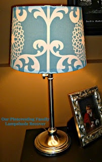 How to recover a lampshade with any fabric you like! Definitely want to try this.